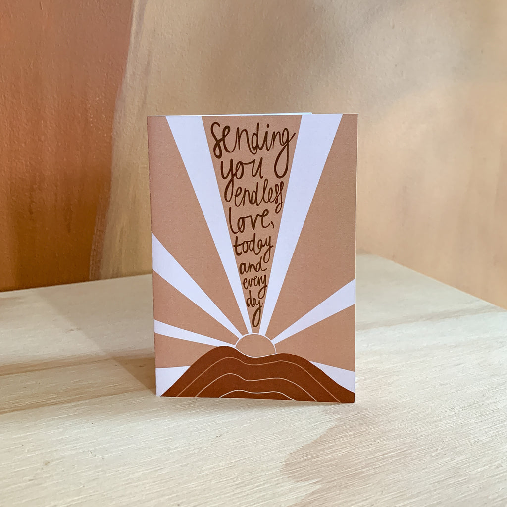 Sending Endless Love Card