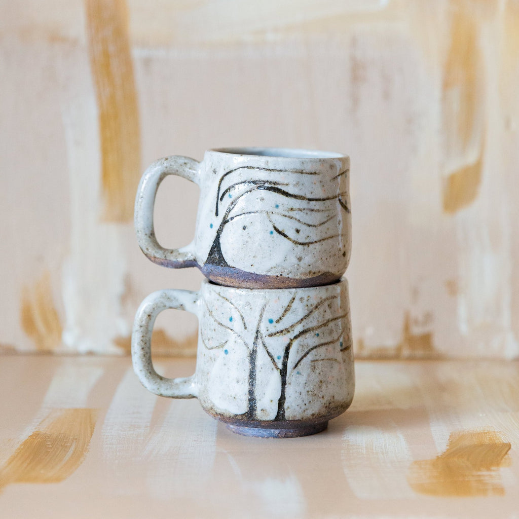 Red Fox Pottery : Tree Handle Mug (Dark)