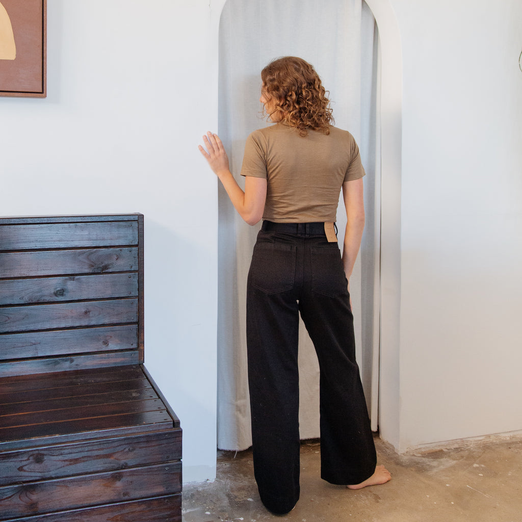 Hemp : Highwaist Pant Black