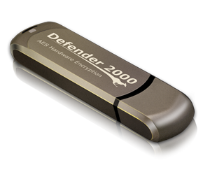 Kanguru Defender 2000 Secure, Hardware Encrypted Flash Drive