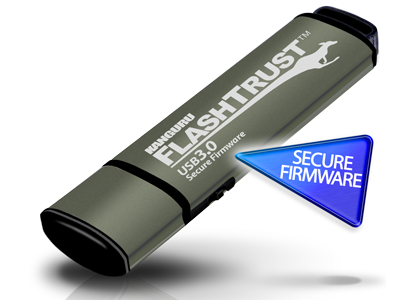 Kanguru FlashTrust secure firmware USB flash drive protects organizations from malicious firmware-based attacks