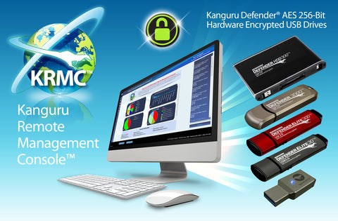 Kanguru Remote Management Console (KRMC) provides IT Security Admins a robust solution to meet today's high-end data security demands, allowing them to easily manage and monitor their encrypted USB devices containing sensitive data around the world.