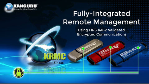 Kanguru Remote Management Console (KRMC) is an ideal way to secure sensitive data around the world