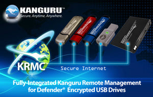 Kanguru remote management and password recovery for hardware encrypted USB