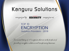 Kanguru Named Among The Top 10 Encryption Providers 2018