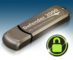 Kanguru Defender 2000, FIPS 140-2 Certified, Level 3, Secure hardware encrypted flash drive