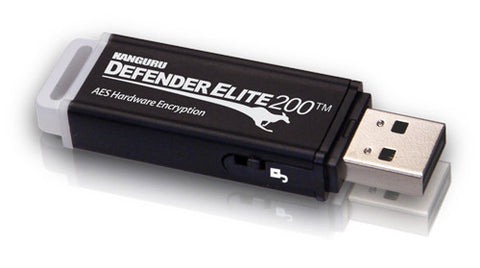 Kanguru Defender Elite200™ Common Criteria / FIPS 140-2 Certified, Hardware Encrypted Flash Drive