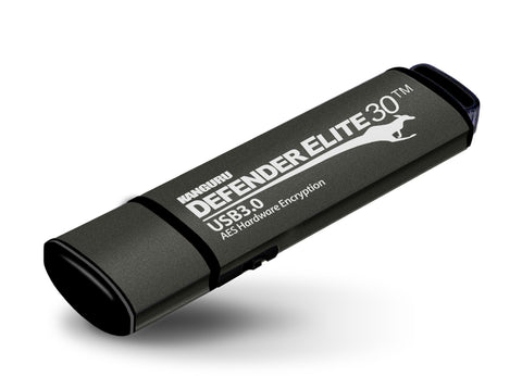Kanguru Defender Elite30™ USB 3.0 Hardware Encrypted Flash Drive with Physical Write Protect Switch