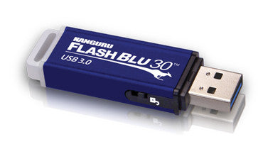 Kanguru FlashBlu30™ Lightning-Fast USB3.0 with Physical Write Protect Switch