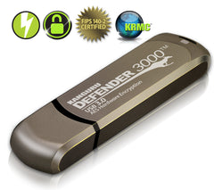 Kanguru Defender 3000 secure, FIPS 140-2 Level 3, SuperSpeed USB 3.0 flash drive