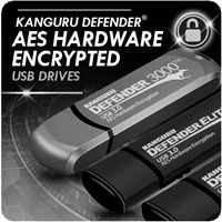 Kanguru Defender Hardware Encrypted USB Drives