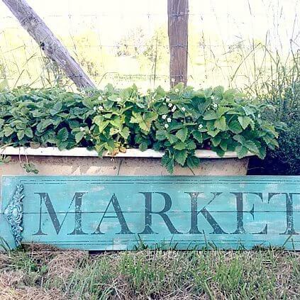 IOD Transfer Art - Market Sign
