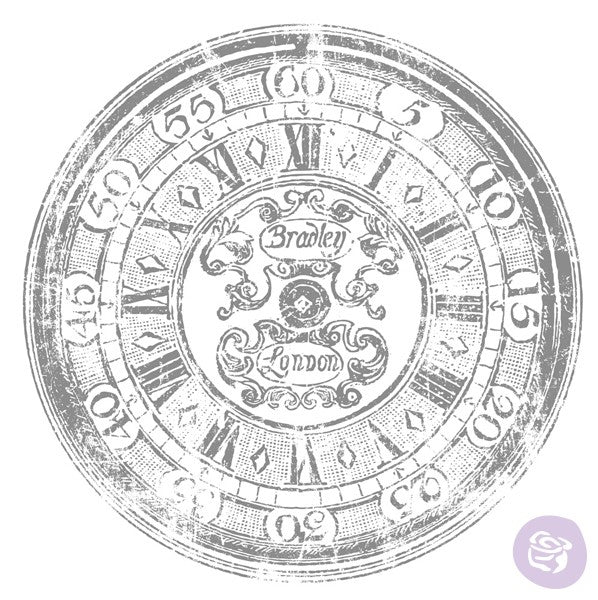 "20"" Clock IOD Decor Transfer"