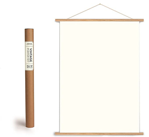 Vertical Wood Hanging Poster Kit