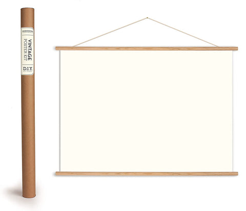 Horizontal Wood Hanging Poster Kit