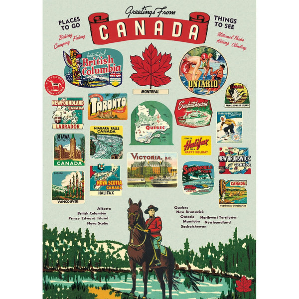 Vintage Canada Paper + Poster Hanging Kit PLUS TWO MORE PAPERS