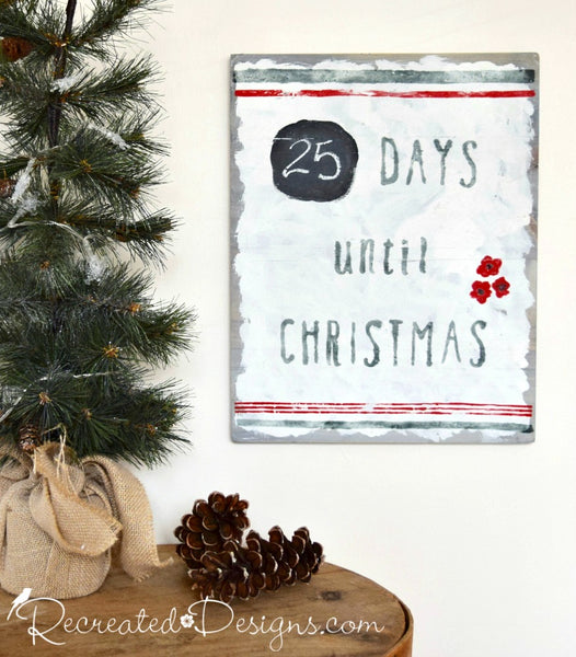 Countdown to Christmas Sign