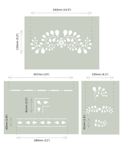 *NEW* Annie Sloan Faux Bone Inlay Stencil