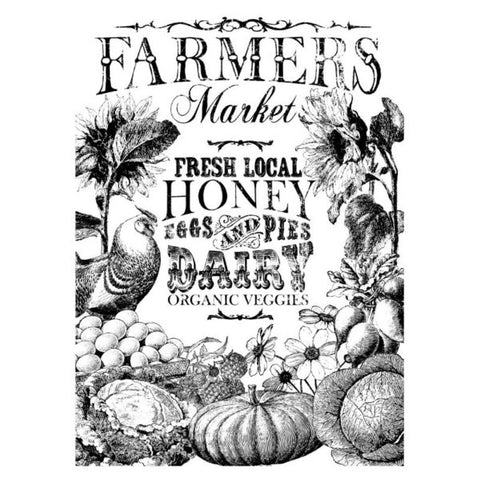 'Farmer's Market' IOD Paintable™ Decor Transfer