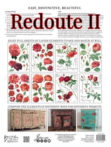 "*PRE ORDER* REDOUTE II TRANSFER PAD (12""x16"" pad - 8 sheets)"