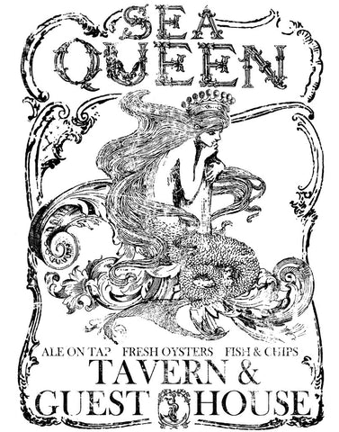 'Sea Queen' SMALL IOD Decor Transfer™