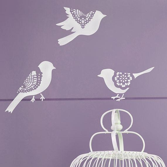 Small Sweet Tweets Stencil (Set of 5)