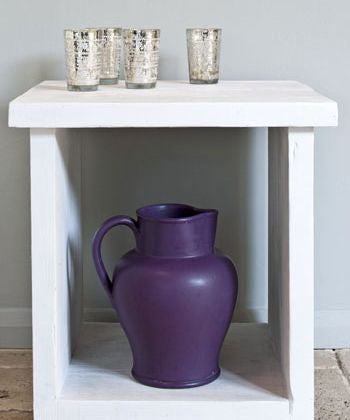 Table in Pure White Chalk Paint™ by Annie Sloan.