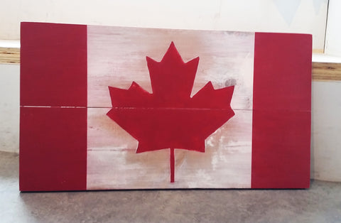 Wooden Canadian Flag Workshop