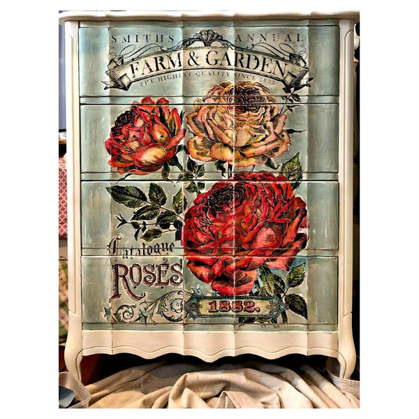'Catalogue of Roses' IOD Paintable™ Decor Transfer