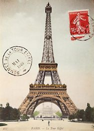 Eiffel Tower Paper + Hanging Kit