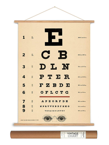 Eye Chart Paper + Hanging Kit