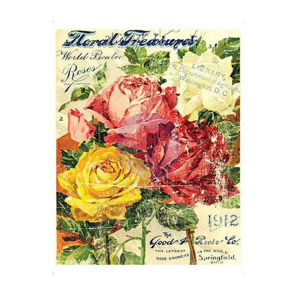 *1st Generation* Floral Treasures IOD Transfer