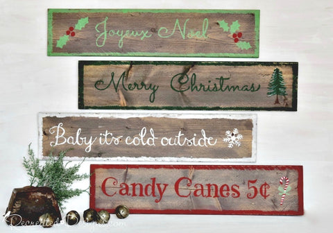 Rustic Holiday Sign Class
