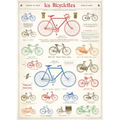 Les Bicyclettes Paper + Poster Hanging Kit PLUS TWO MORE PAPERS