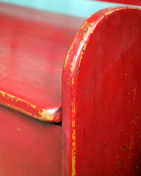 Emperor's Silk Chalk Paint™ on bench by Malenka Originals.