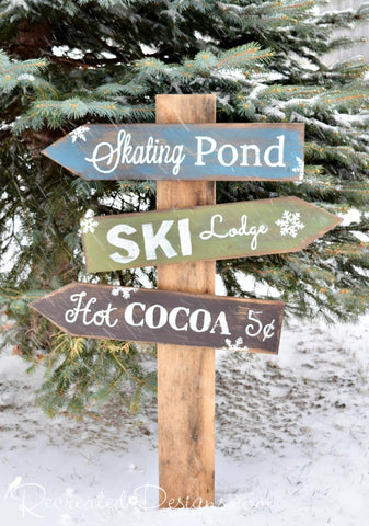Vintage Winter Sign Workshop