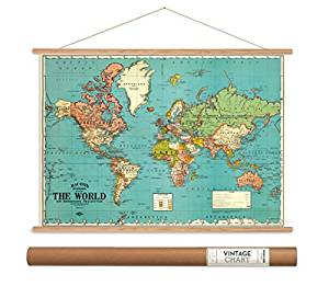 World Map Paper + Hanging Kit