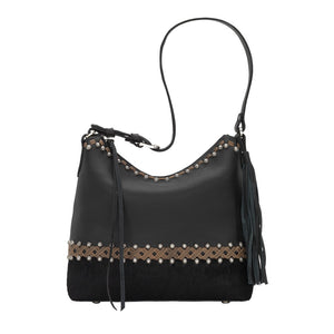 Wild Horses Zip Top Shoulder Bag