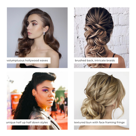 Hairstyles with popular necklines