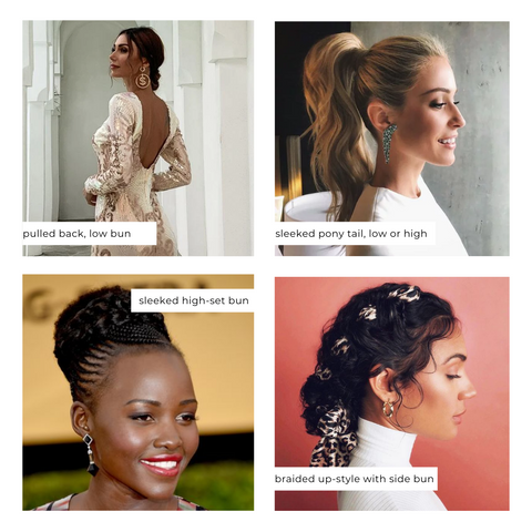 Hairstyles with High Necklines