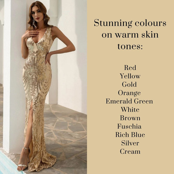 Best Dress Colours for Warm Skin Tones - formal Dress Prom Dress Special Dress