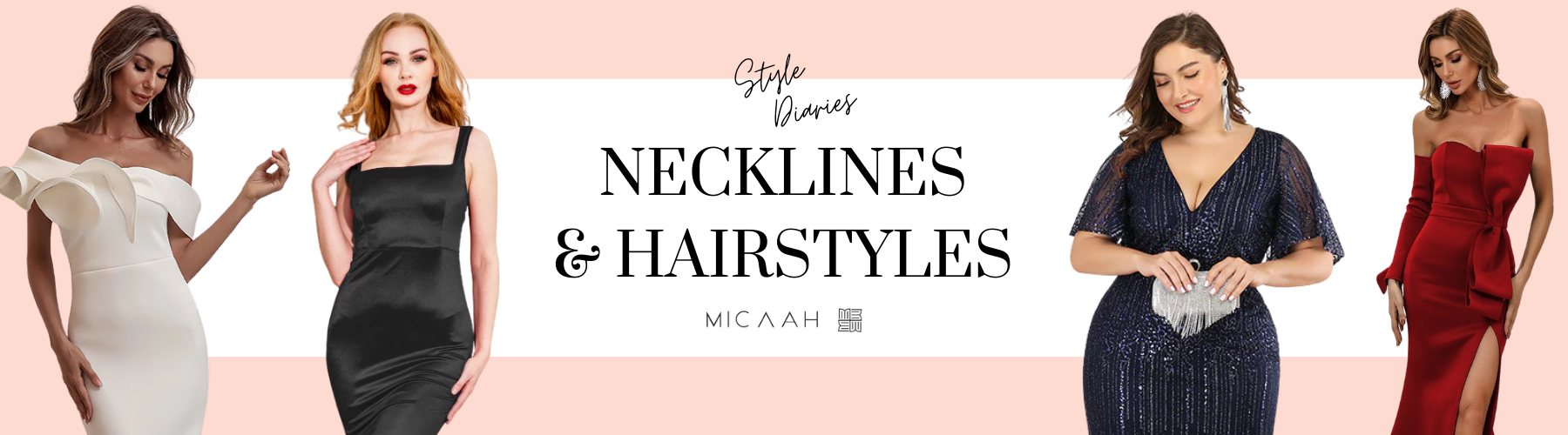 How to pair the right hairstyle with your dress neckline