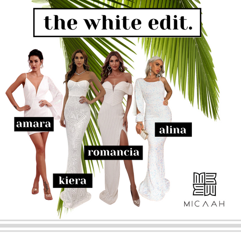 The White Edit by Micaah - Our lovely White coloured dresses