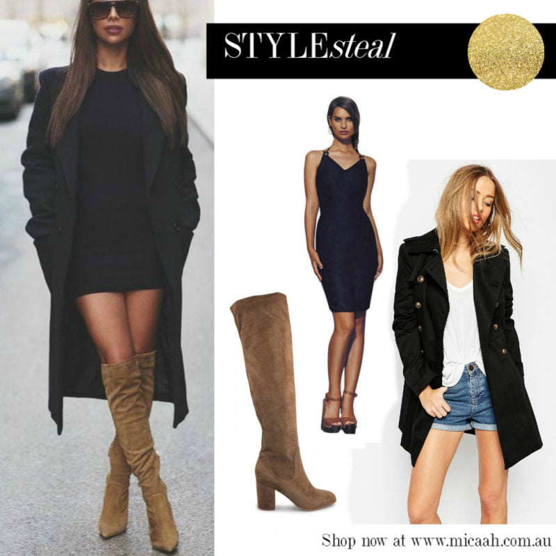 """Ways to Wear a LBD - Long Jacket and Boots v2"