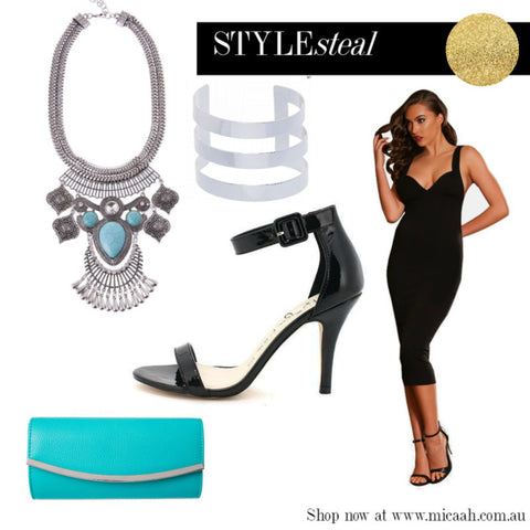 Ways to Wear a Little Black Dress - Silver and Turqoise