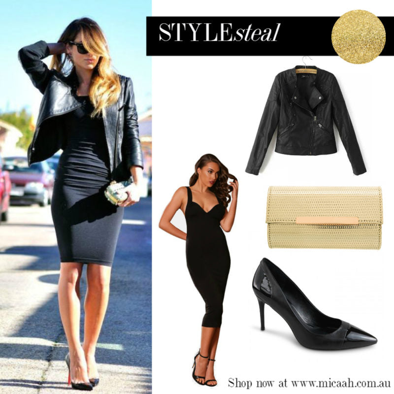 Ways to wear a LBD - Biker Jacket Edgy Look