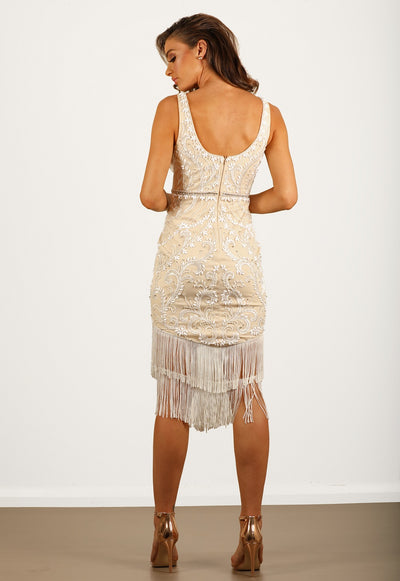 Evangeline Beaded Midi Dress