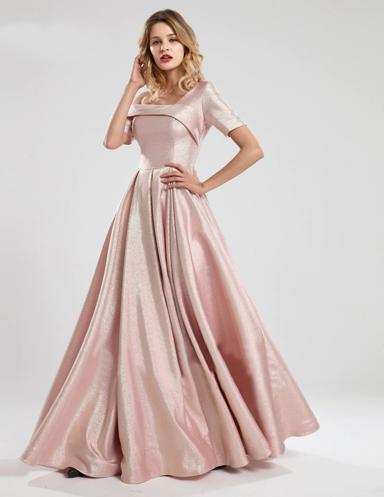 Mika Metallic Formal Gown