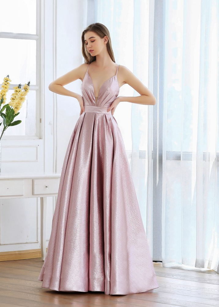 Dominique Metallic Gown