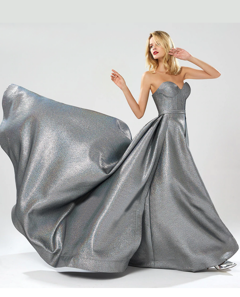 Larissa Formal Gown - Metallic Silver